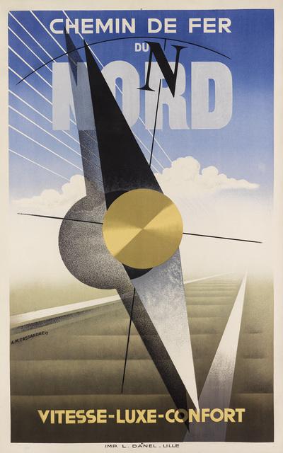 Adolphe Mouron Cassandre, 'CHEMIN DE FER DU NORD', 1929, Swann Auction Galleries