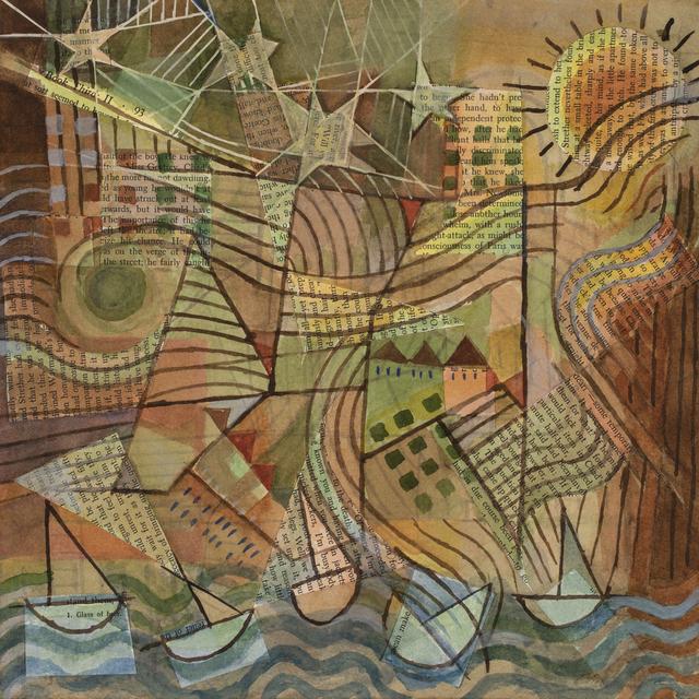 , 'Peter's Park (no. 7): At the Lake, 2018. Pencil, watercolor, gouache, paper collage on paper,' 2018, Les Yeux du Monde Gallery