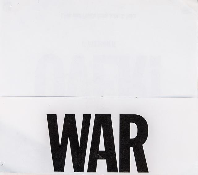 , 'WAR (after John & Yoko),' 2009, Interlude Gallery