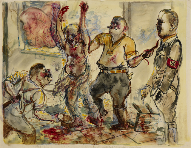 , 'Interrogation,' 1938, Ben Uri Gallery and Museum