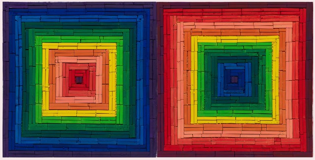 , 'Metachrome (Double Scramble, after Frank Stella),' 2016, Ben Brown Fine Arts