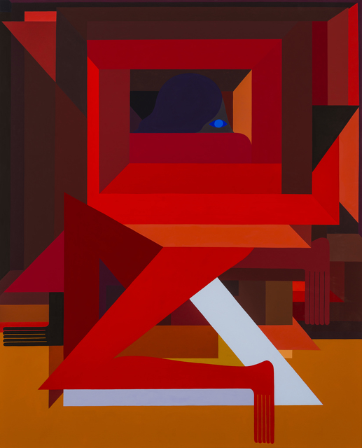 , 'Fortified Figure, (Red) Right Facing,' 2018, V1 Gallery