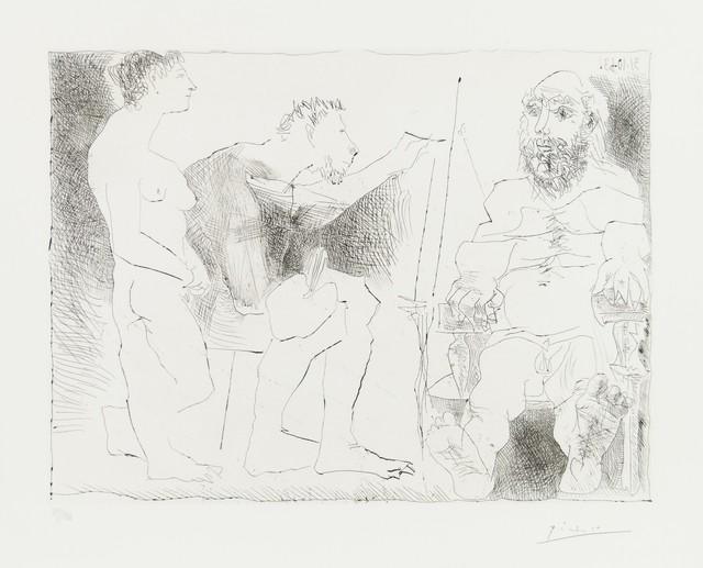 Pablo Picasso, 'Peintre avec un Model Barbu et une Spectattrice', 1963, Broadway fine Art