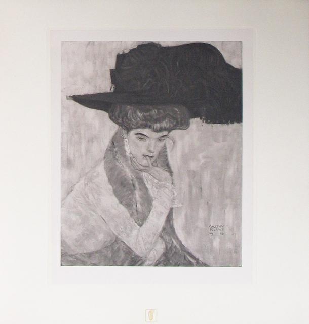 Gustav Klimt, 'The Black Feathered Hat [Das Werk Gustav Klimts]', 1914, Jason Jacques Gallery