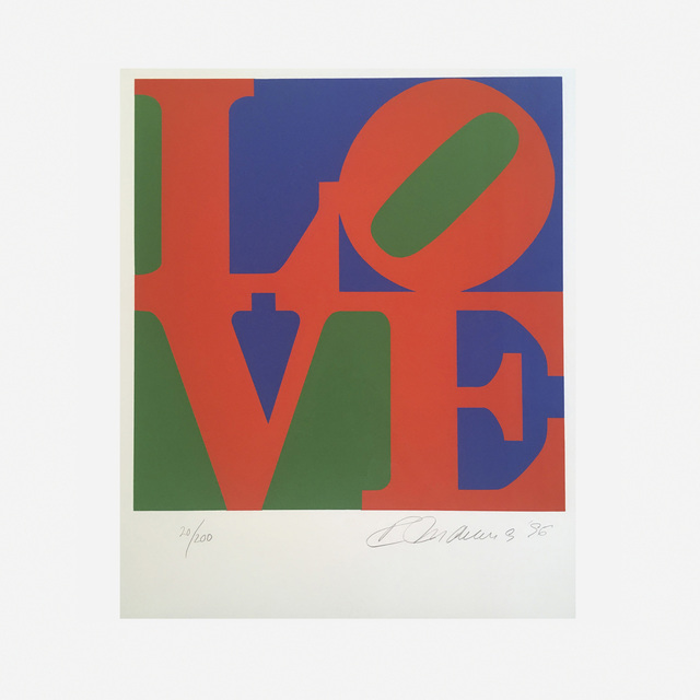 Robert Indiana, 'Book of Love (red)', 1996, Print, Screen-print on A.N.W. Crestwood Museum Edition paper., Artsy x Rago/Wright