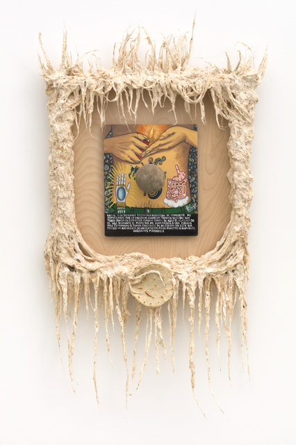 Guadalupe Maravilla, 'I was born on December, 12th Retablo', 2021, Painting, Oil on tin, mixed media on wood, P.P.O.W