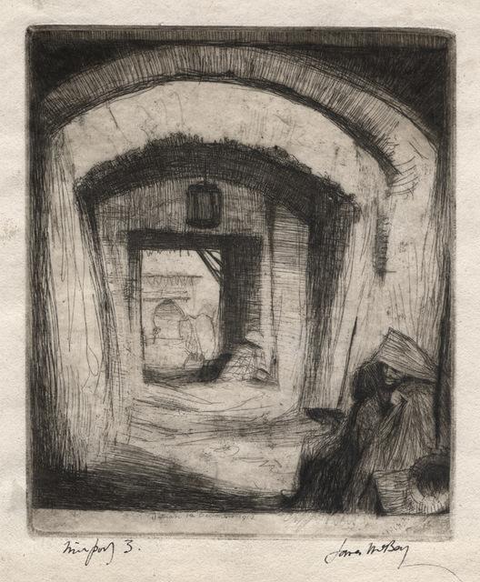 James McBey, 'Beggars, Tetuan (Nº 1)', 1912, Print, Etching, Conrad R. Graeber Fine Art