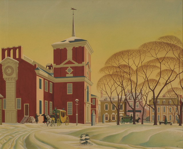 James R. Bingham, 'Snow at Independence Hall', 20th Century, The Illustrated Gallery