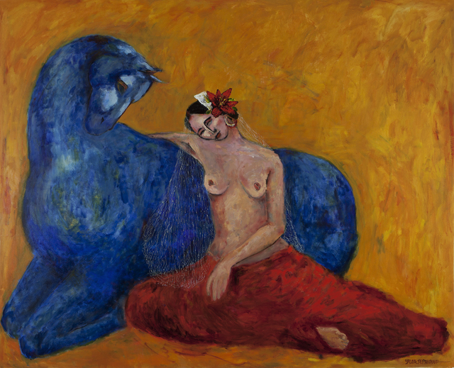 , 'Woman with Blue Horse,' 2017, Simard Bilodeau Contemporary