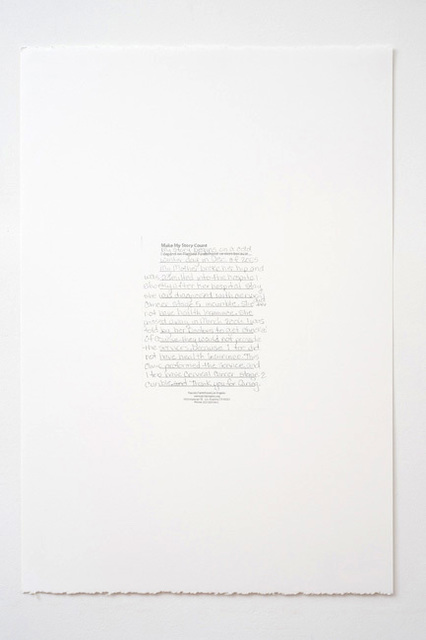 , 'Make My Story Count, Letters to Planned Parenthood (My Story Begins),' 2011, Andrew Kreps