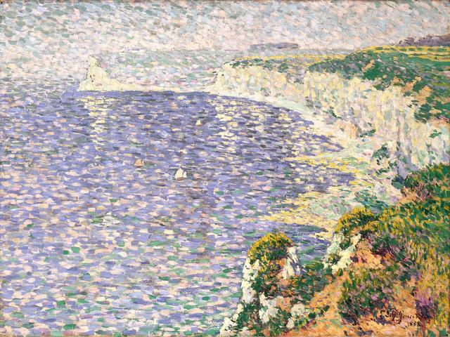 Claude Emile Schuffenecker, 'A View of the Cliffs at Etretat', 1888, Painting, Oil on canvas, Indianapolis Museum of Art at Newfields