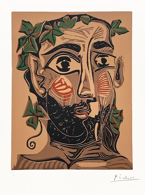 , 'Bearded Man, Crowned with Green Leaves (Artist Proof),' 1962, R. S. Johnson Fine Art