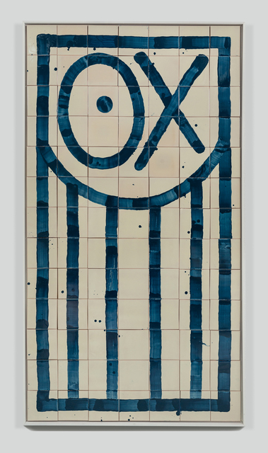 André Saraiva, 'Mr. A', 2018, Mixed Media, Hand-painted tiles, Underdogs Gallery