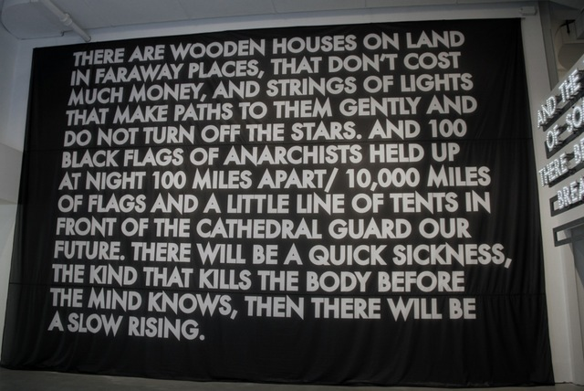Robert Montgomery, 'There are Wooden Houses on Land (Flag)', 2013, C24 Gallery