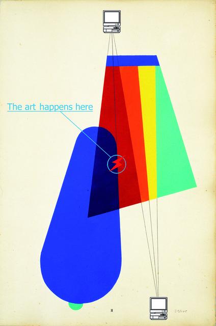 , 'Dada net art diagram,' 2016, Galerie Charlot
