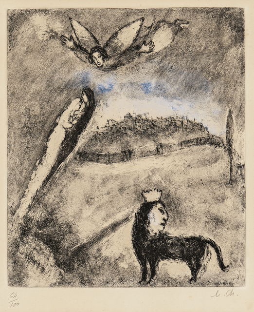 Marc Chagall, 'Salvation for Jerusalem, plate 98 from the series The Bible', 1958, Skinner