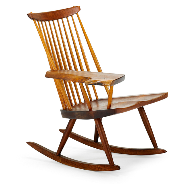 George Nakashima, 'Lounge Chair Rocker With Arm, New Hope, PA', 1978, Rago/Wright