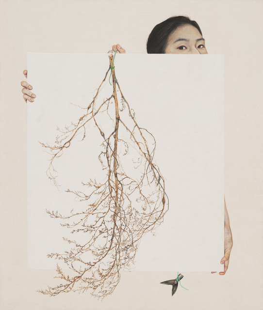 Lee Jinju, 'Remained ', 2019, Painting, Korean paint on linen, Arario Gallery