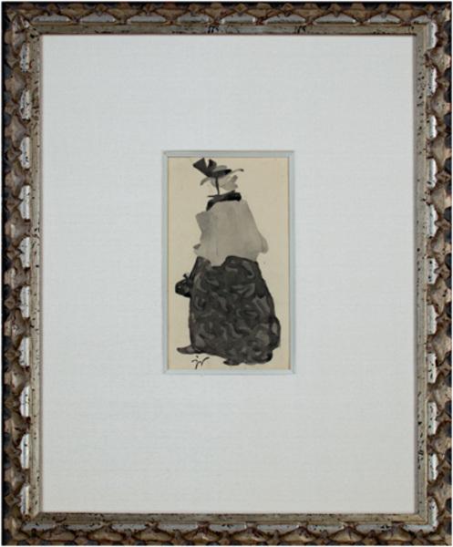, 'Vielle femme en petite cape (signed with artist's etel. Stamp),' 1900, David Barnett Gallery