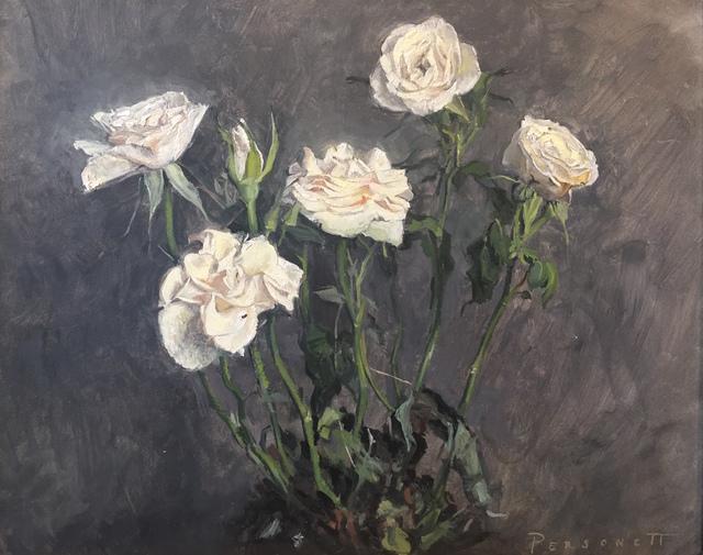 , 'Little White Roses,' 2018, Grenning Gallery