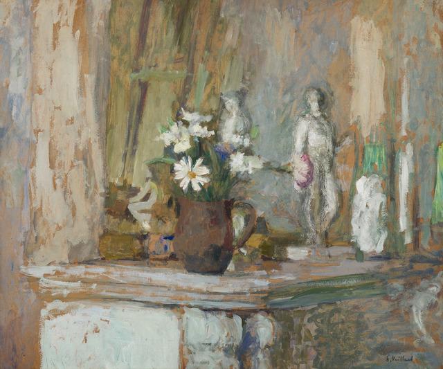 Édouard Vuillard, 'Marguerites et statuettes sur la cheminée', 1905-1907, HELENE BAILLY GALLERY