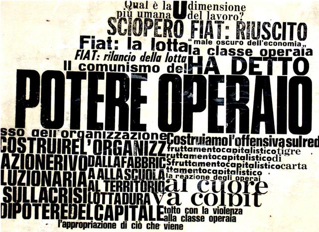 , 'Potere Operaio,' 1969-2017, Galleria Michela Rizzo