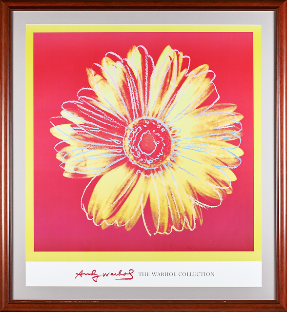 Andy Warhol, 'Daisy (Fuschia and Yellow)', ca. 1982, Print, Offset lithograph in colors, Rago/Wright