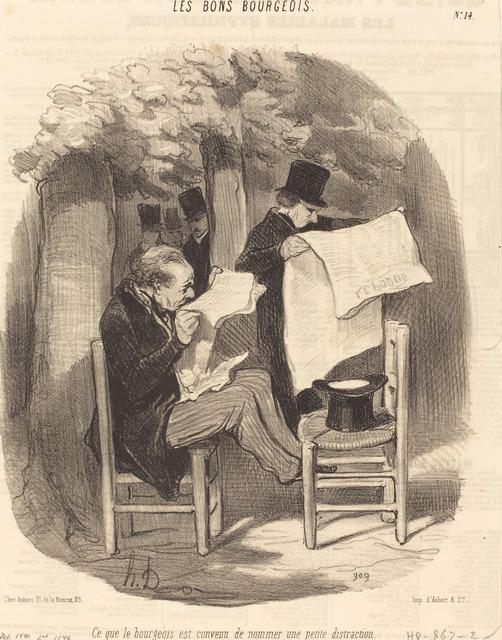 Honoré Daumier, 'Ce que le bourgeois est convenu de nommer une... distraction', 1846, National Gallery of Art, Washington, D.C.