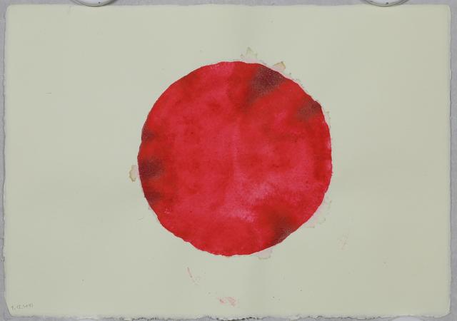 ", '2017.12 ""5x2 Cercles Aquarelles Rouges recto verso"" (1),' 2017, Galerie Nathalie Obadia"