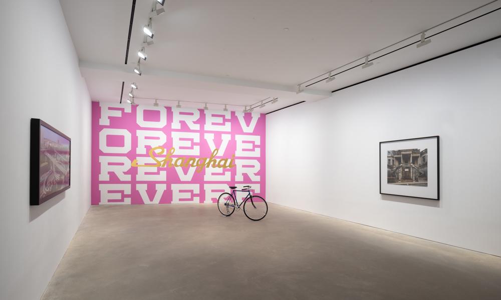 Installation view of Brilliant City, David Zwirner, Hong Kong, 2018.