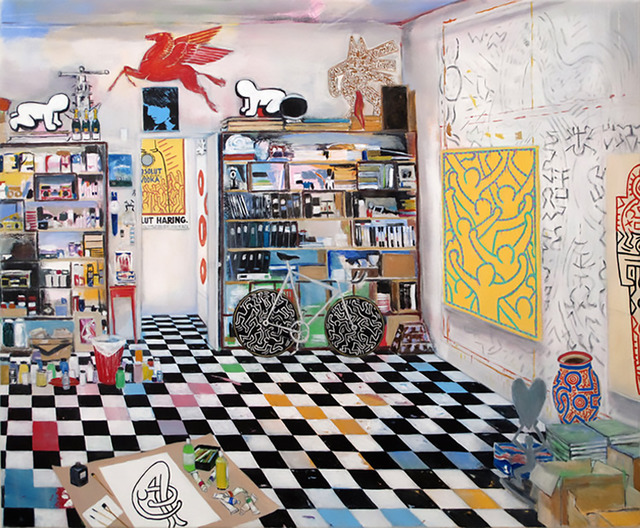, 'Keith Haring's Studio (New York, 1990),' 2017, Serena Morton