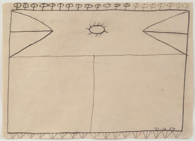 , 'Drawing 21.4.59,' 1959, Richard Saltoun