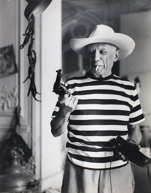 André Villers, 'Picasso with a hat and gun gifted by Gary Cooper', 1959, Danziger Gallery