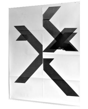 "Wade Guyton, '""X"" (Untitled, 2018, Epson Ultrachrome inkjet on linen), Signed/Numbered Edition of 100, 84 x 69 in.', 2018, VINCE fine arts/ephemera"
