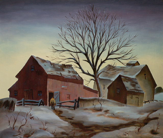 , 'Sunrise in Winter ,' 1942, Questroyal Fine Art