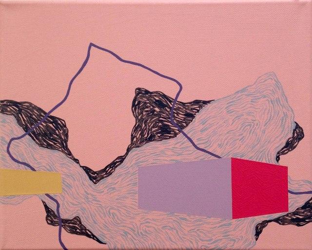 , 'Purple line,' 2014, Faur Zsofi Gallery