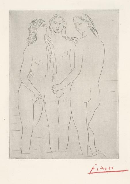 Pablo Picasso, 'Les Trois Baigneuses, I (The Three Bathers, I)', 1922-1923, Yale University Art Gallery