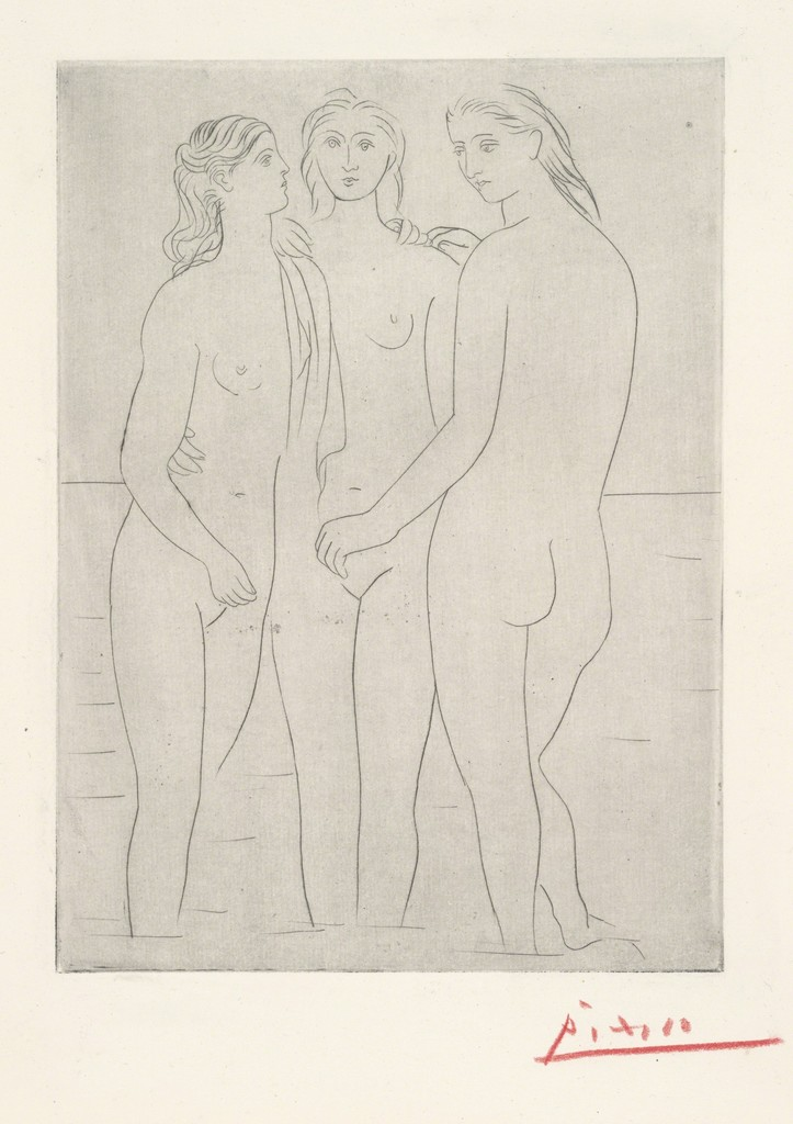 Pablo Picasso, 'Les Trois Baigneuses, I (The Three Bathers, I),' 1922-1923, Yale University Art Gallery