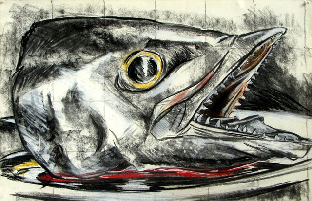 Luis Frangella, 'Untitled (Fish Head)', ca. 1985, Hal Bromm
