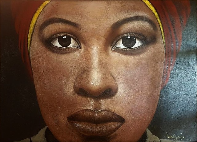 George Velaphi Mzimba, 'Suku'oluhle', ca. 2019, Painting, Acrylic on canvas, Tanya Baxter Contemporary