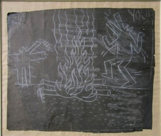 Keith Haring, 'Untitled (Dancing Dogs Around the Fire)', 1982, Taglialatella Galleries
