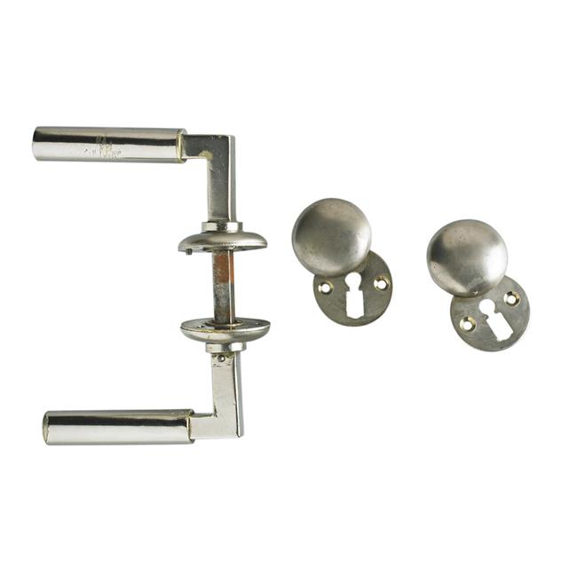 Walter Gropius, 'Set Of Two Door Handles, Lock, and Lock Plates, Belgium/Germany', 1920s, Rago/Wright