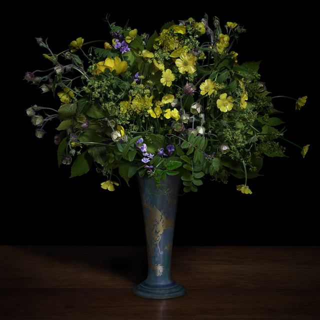 T.M. Glass, 'Buttercups and Other Wildflowers in a Japanese Vase', 2018, Galerie de Bellefeuille