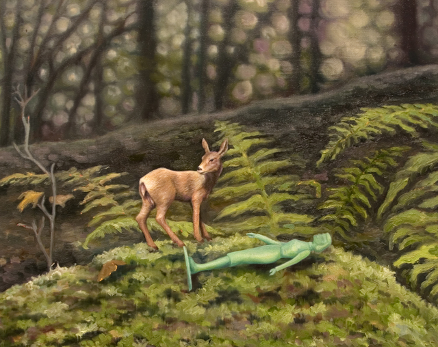 , 'What she did in the woods,' 2018, James May Gallery