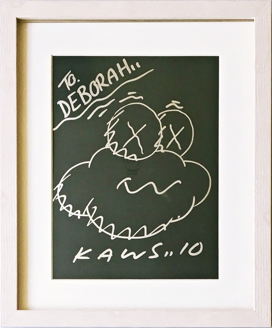 KAWS, 'Untitled Drawing', 2010, Drawing, Collage or other Work on Paper, Original drawing in metallic marker on coloured paper. hand signed. dated. inscribed. framed., Alpha 137 Gallery Gallery Auction