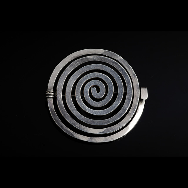 , 'Sterling silver spiral brooch,' 1952, Didier Ltd.