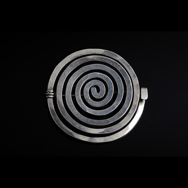 Alexander Calder, 'Sterling silver spiral brooch', 1952, Didier Ltd.