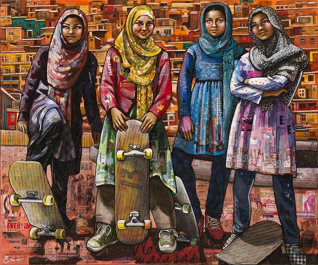 , 'Kabuli Schoolgirls,' 2017, Blue Rain Gallery