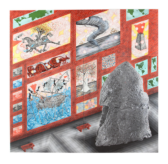 , 'Electromagnetic Underground War Sanctuary,' 2016, Joshua Liner Gallery