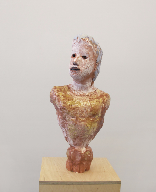 , 'Portrait Bust with Amber Shirt and Faceted Base,' 2017, Asya Geisberg Gallery